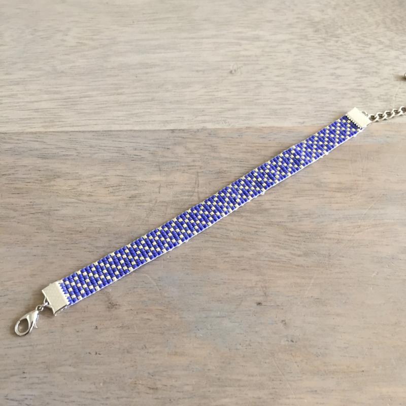 Beads-armbandje Blue sparkle