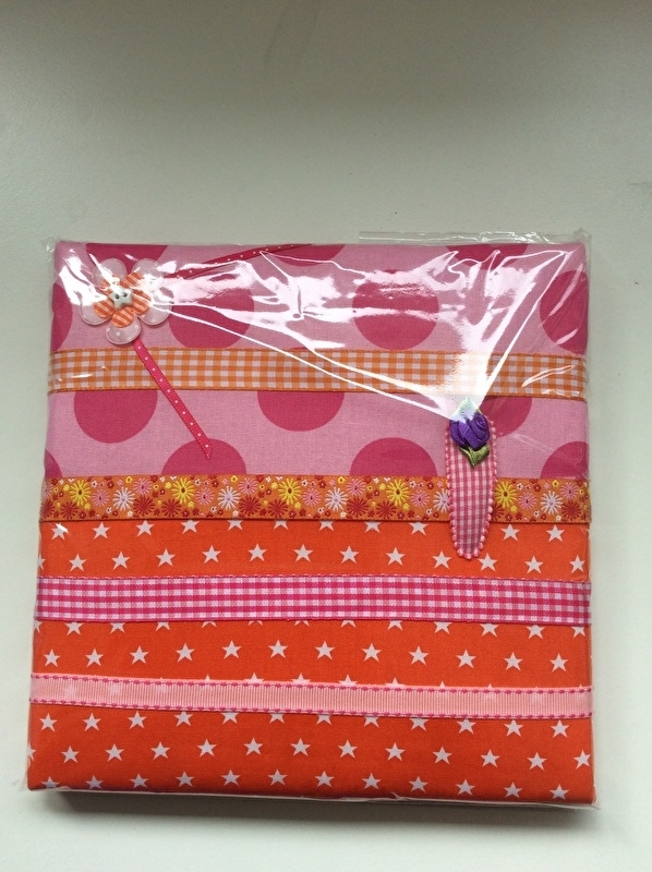 Haarspeldjesbord 20 x 20 cm Roze/oranje