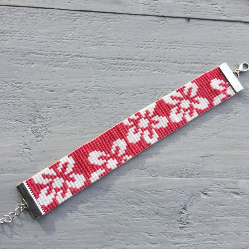 Beads-armbandje flowers