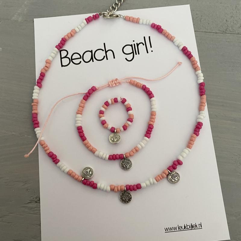 Set Beach girl Fuchsia Pinky