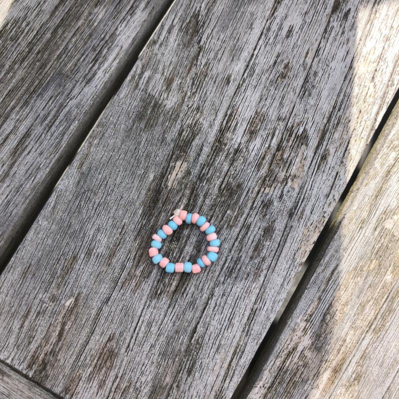 Ring roze-blauw
