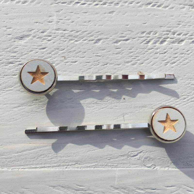 Haarspeldjes, 2 stuks, Star Grey
