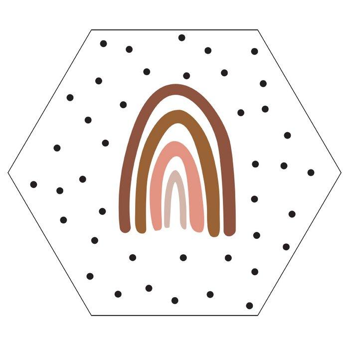 Muurcirkel Haxagon Rainbow