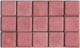 Halve betonklinker 8 cm rood (72st)