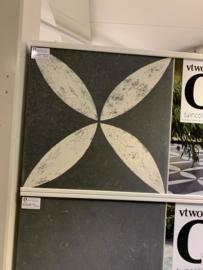 VT Wonen Solostone Decoren Belgian Stone Flower White 70x70