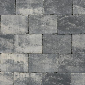 Abbeystones Getrommeld Grijs Zwart 30x40x6