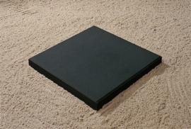 Betontegel 50x50x4 zwart MF