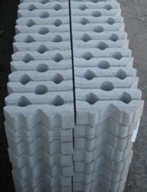 Bermblok 41x61x12 grijs 61 rechte kant