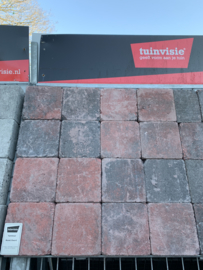 Tambour rood zwart 15x15x6
