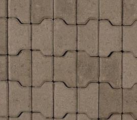 Halve H-profielstenen 8 cm grijs met facet