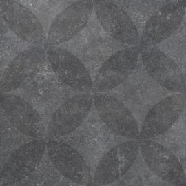 VT Wonen Solostone Decoren Hormigon Floret Antracite 70x70