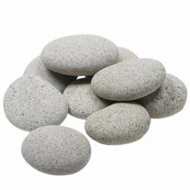 25 kg Beach pebbles 40 - 60 mm grijs