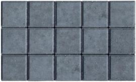 Halve betonklinker 8 cm zwart (72st)