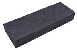 Basalt bloktrede 35x15x100 cm Zwart