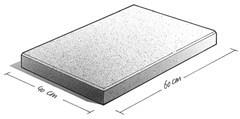 Pak Betontegel 40x60x5 grijs zonder facet