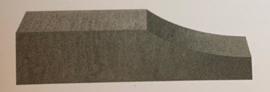 Linia Palissade Excellence 15x15x60 cm Wave Grijs/Zwart