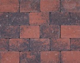 Kobblestones 21x14x7 cm Rood-Zwart