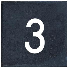 Cijfertegel 30x30x6 cm nummer 3