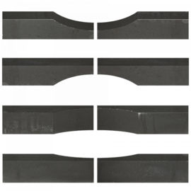 Linia Palissade Excellence 15x15x60 cm Wave Nero