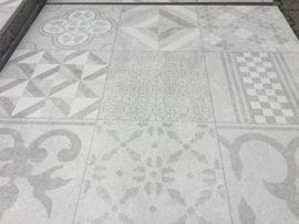 GeoCeramica 60x60 Design Mosaik Grey tegel