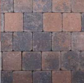 Kobblestones 14x14x7 cm Bruin Zwart