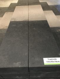 Traptrede 100x40x18 cm antraciet