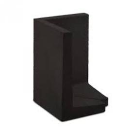 L-hoekelement 60x40x40 cm zwart buitenzijde 45 graden set L+R