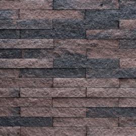 Wallblock split 12x12x30 cm Brons
