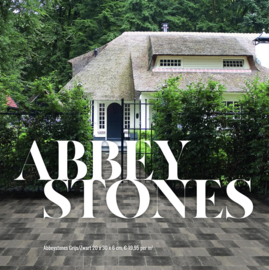 Abbeystones Getrommeld Grijs Zwart 20x30x6