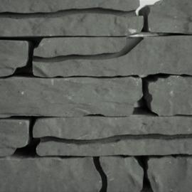 Stone walling antraciet naturel