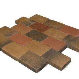 Metro Trommelsteen 15x15x6 Brons Genuanceerd
