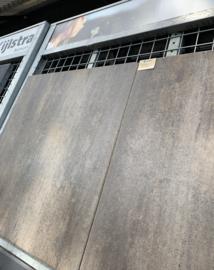 Betontegel 90x90 cm bruin grijs