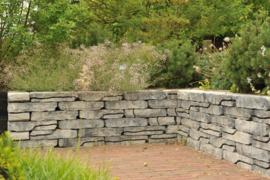 Stone walling grijs zwart naturel