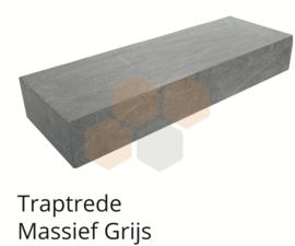 Traptrede massief 18x40x100 grijs