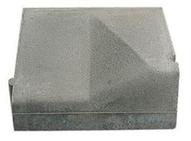 Inritband 10/20x45x50cm rechts KOMO grijs