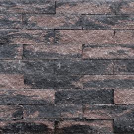 Wallblock split 10x10x40 cm Brons