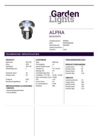Garden Lights Alpha blauw licht
