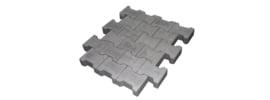 H-profielstenen 8 cm grijs met facet