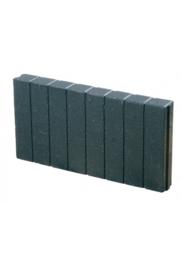 Quadroband palissade 8x25x100 zwart