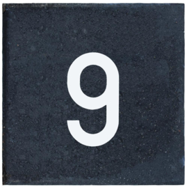 Cijfertegel 30x30x5 cm nummer 9