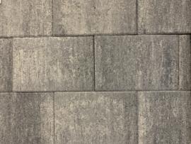 Excluton steen 20x30x4 grijs/zwart