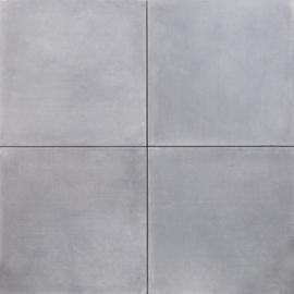 Tuintegel 60x60x4 grijs zonder facet