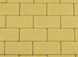 BSS 8 cm KOMO geel met deklaag betonklinker