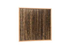 bamboemat 180x180 cm Black