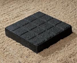 Gitruittegel 16-vaks Zwart 30x30x6