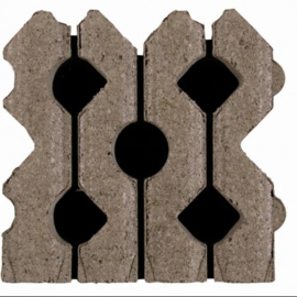 Bermblok 41x41x12 grijs