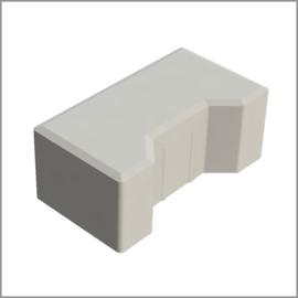 Begin / eind H-profielstenen 8 cm grijs met facet