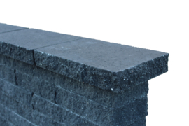 Wallblock Afdekplaat Split Antraciet 60x25x6cm