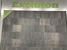 Excluton terrassteen+ 20x30x4 grijs/zwart