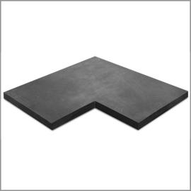 Siam Bluestone vijverrand hoekstuk 50/50x30x3 cm verzoet